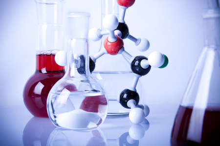 Laboratory Glassware and Atoms photo