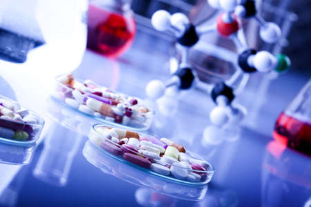 biological science: Pills and Drugs Stock Photo
