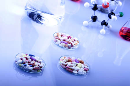 drug discovery: Pills and Drugs Stock Photo