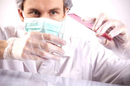 chemic: Scienziato esperimenti  Archivio Fotografico
