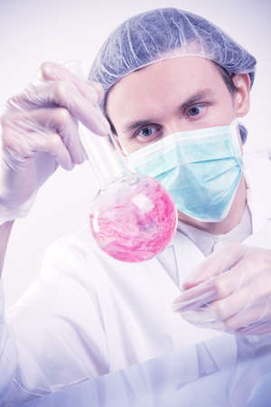 Scientist Experimenting photo