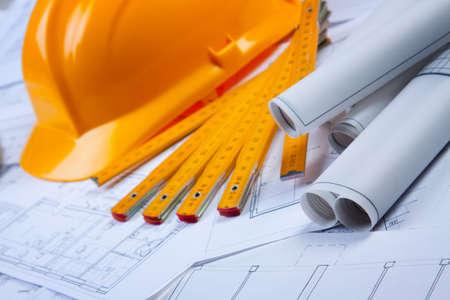 Construction plans photo