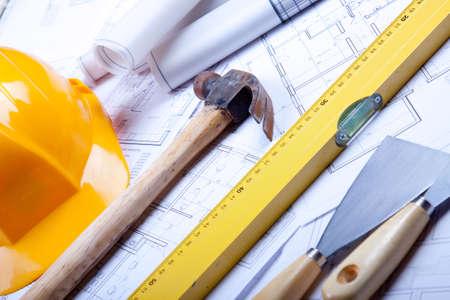 Construction Plans Stock Photo - 6303418