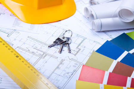building plans Stock Photo - 6303417