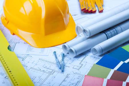 constructeur: Plans de maison Banque d'images