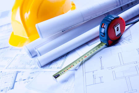 Construction plans Stock Photo - 6303444