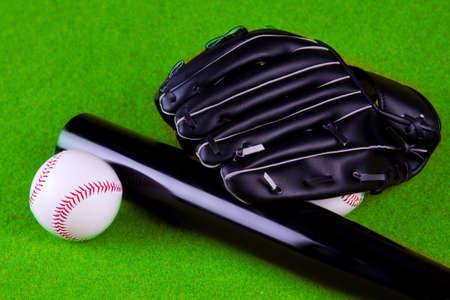 gant de baseball: Baseball, de gants, de ballon et de chauve-souris