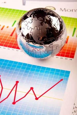 puzzle globe: World! Stock Photo