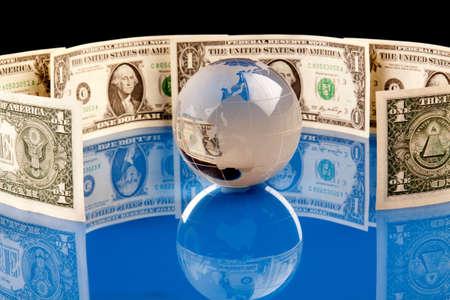 dolar: Mundo de Money Foto de archivo