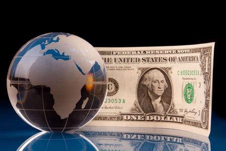 dolar: World and Money Stock Photo
