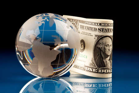 international sales: World and Money Stock Photo