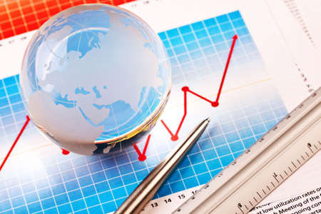 international bank account number: World and Money Stock Photo