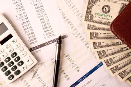 contabilidad financiera cuentas: Finanzas y negocios  Foto de archivo