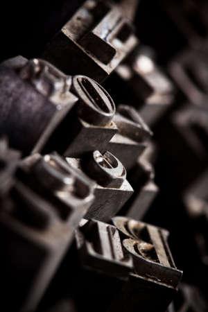 monotype: Metal Font Stock Photo