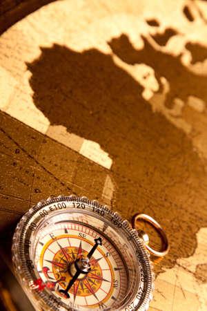 Gold Compass Closeup photo