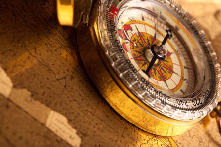 Gold Compass Closeup Stock Photo - 7116333