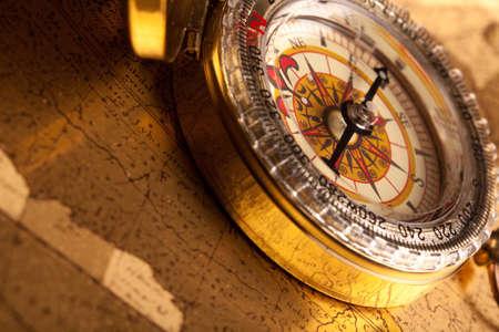 Gold Compass Closeup Stock Photo - 7116333