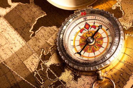 Gold Compass Closeup Stock Photo - 7122275