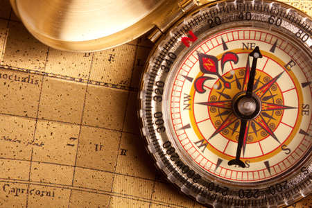 spyglass: Gold Compass Closeup
