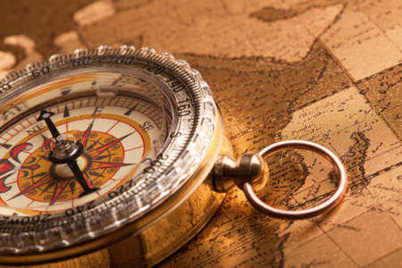 Gold Compass Closeup Stock Photo - 7122266