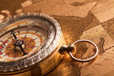 Gold Compass Closeup Stock Photo - 7122266