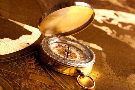 Gold Compass Closeup Stock Photo - 7122255