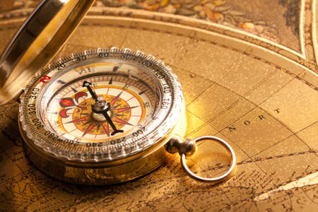 Gold Compass Closeup photo