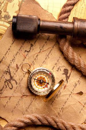 t�lescopes: Carte Tr�sor Banque d'images
