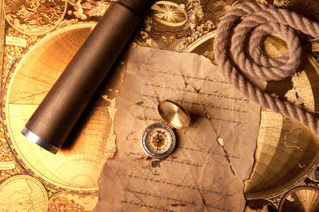 treasure map: Old treasure map Stock Photo
