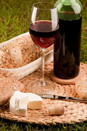Wine picnic photo
