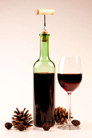 red wine on white photo