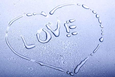 Love heart water shape