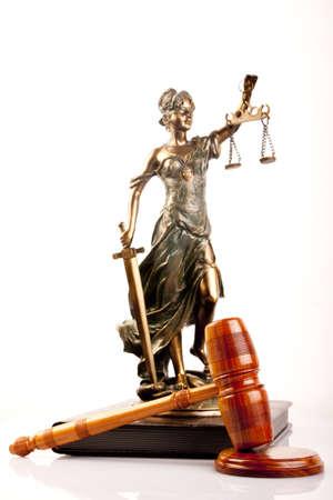 mandato judicial: Dios de justicia y de la Maza  Foto de archivo