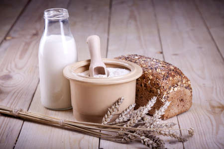 grain and cereal products: Bakery concept Stock Photo