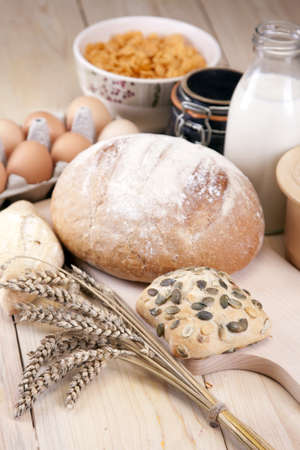 grain and cereal products: Bakery! Stock Photo