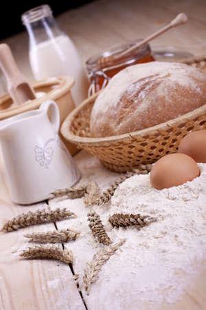 harina: Hornear natural  panader�a  Foto de archivo