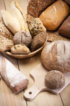 pan frances: Hornear natural  panader�a  Foto de archivo