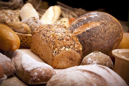 wheat toast: Bakery! Stock Photo