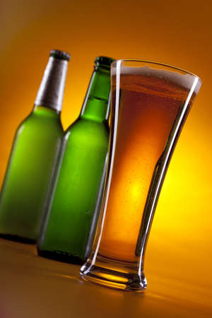 chilled: Chilled beer! Stock Photo