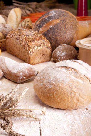 Baking bread photo