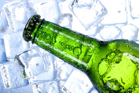 Chilled beer in ice Stock Photo - 7923678