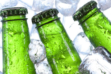 Chilled beer in ice Stock Photo - 7923701