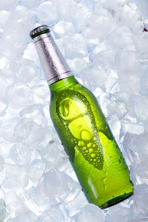 Chilled beer in ice Stock Photo - 7923145