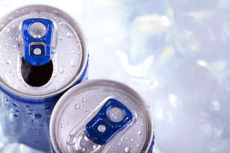 Drink can closeup photo