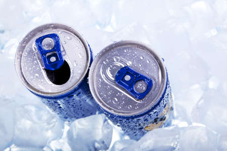 aluminum cans: Energy drink!