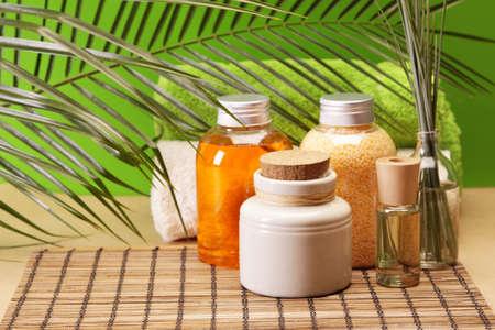 productos naturales: Zen, spa y relajarse Foto de archivo