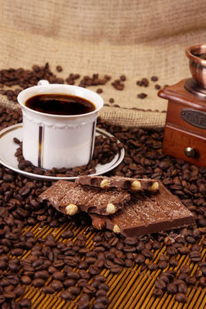 Chocolate and coffee photo