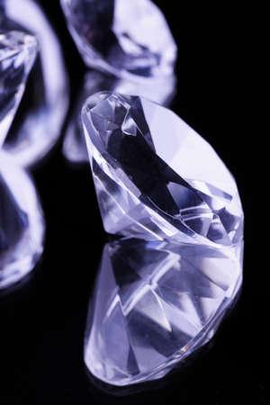 Pure beautiful diamonds on mirror photo