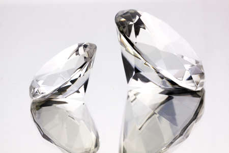 brilliant colors: Pure beautiful diamonds on mirror Stock Photo