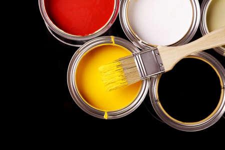 paint cans: Paint cans!